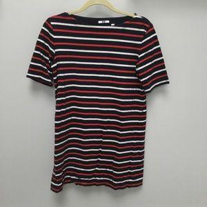 EUC Uniqlo Nautical Striped Long T-Shirt